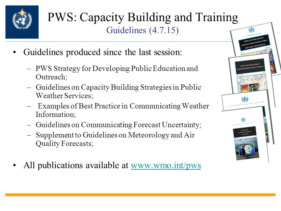 PWS: Capacity Building and Training Guidelines (4.7.15)