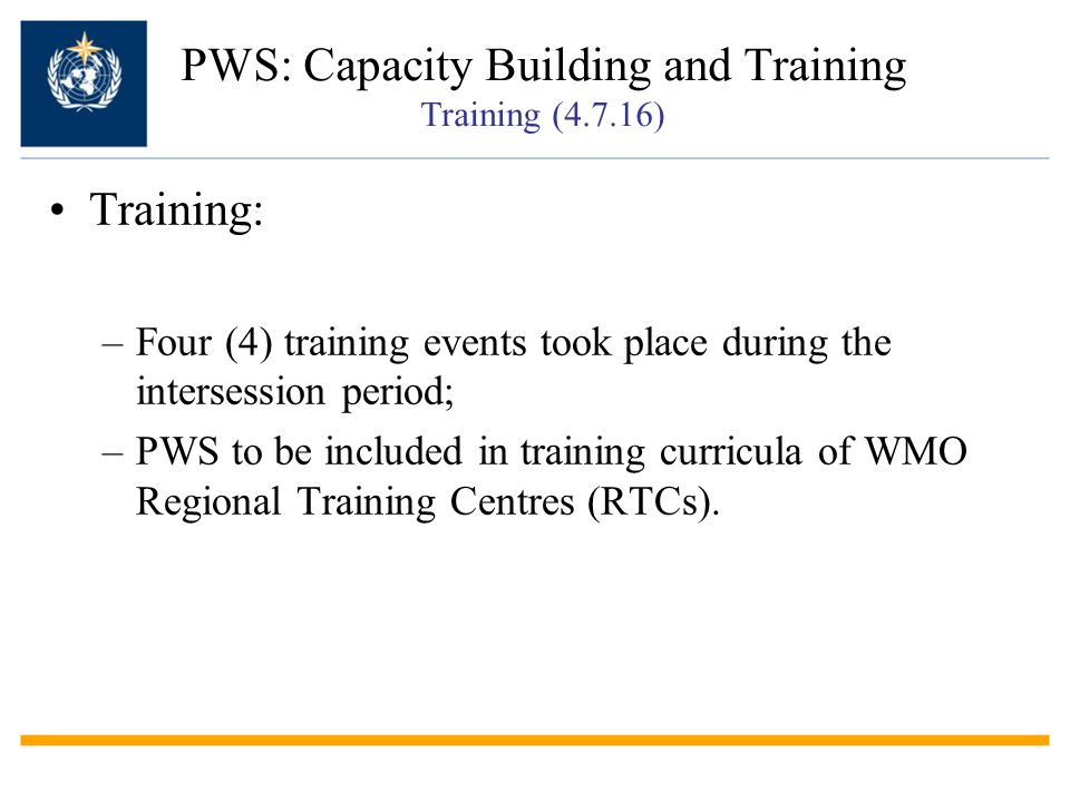PWS: Capacity Building and Training Training (4.7.16)