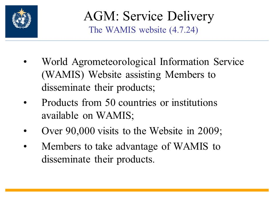 AGM: Service Delivery The WAMIS website (4.7.24)