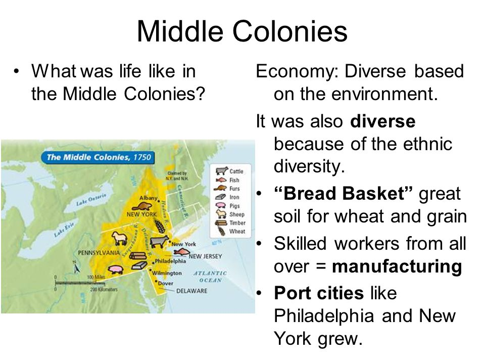 Middle Colonies What was life like in the Middle Colonies