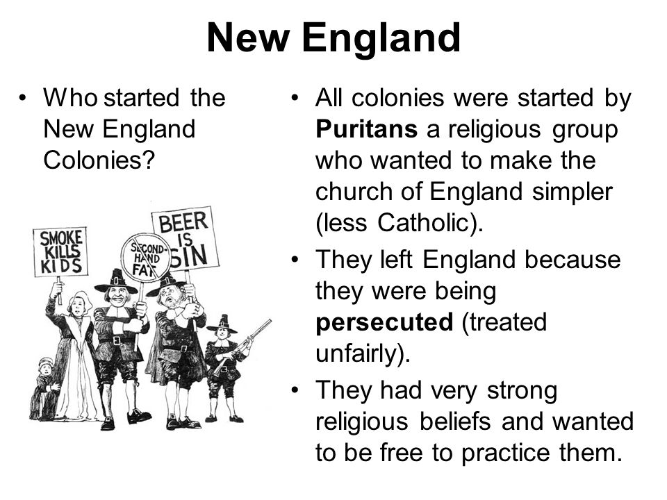 New England Who started the New England Colonies
