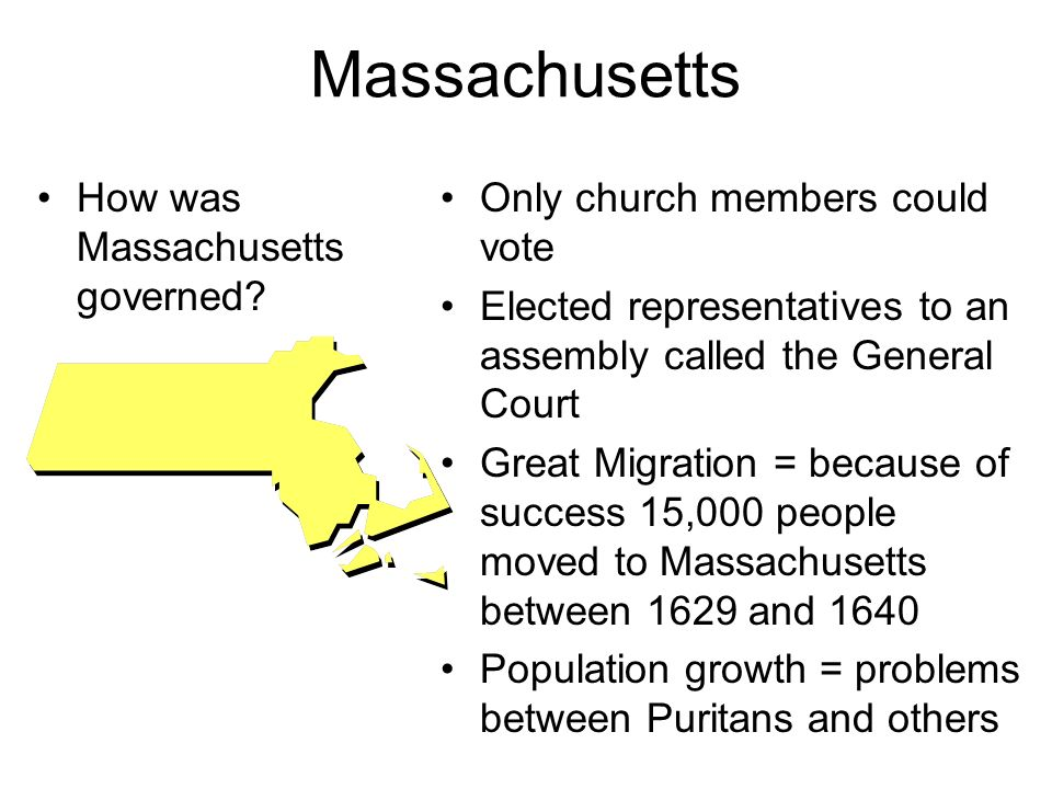 Massachusetts How was Massachusetts governed