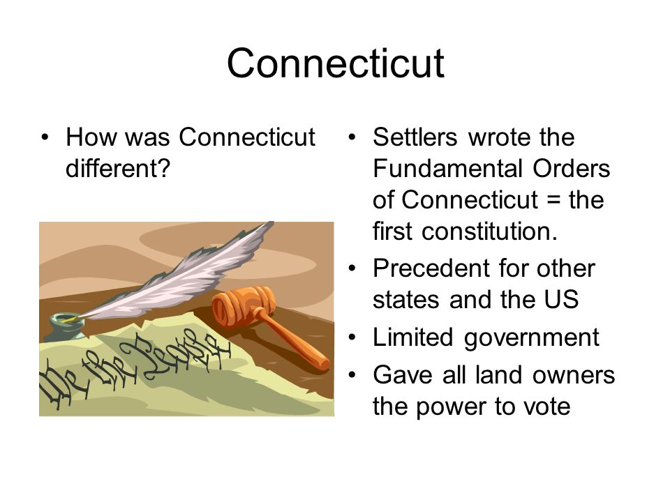 Connecticut How was Connecticut different