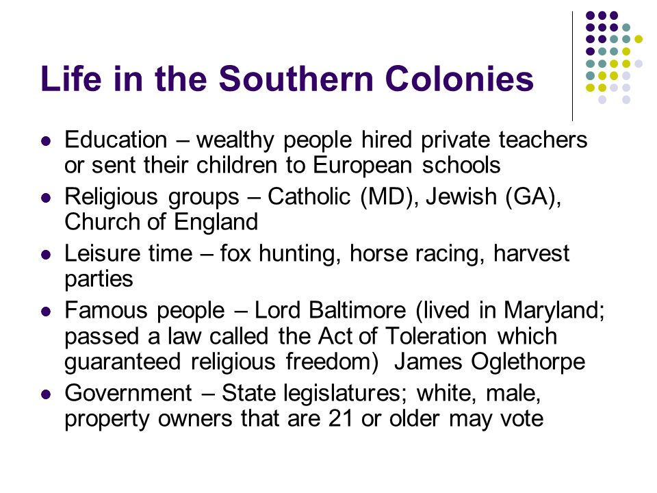 The 13 Colonies