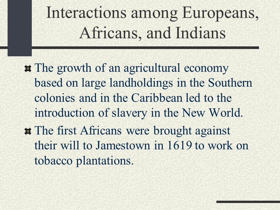 an introduction to the history of slavery over the world Timeline for the abolition of slavery [] 1542 native slaves freed and native slavery abolished in all spanish american colonies by emperor charles i of spain under the new laws of indies, declaring all indians free citizens of the spanish empire.