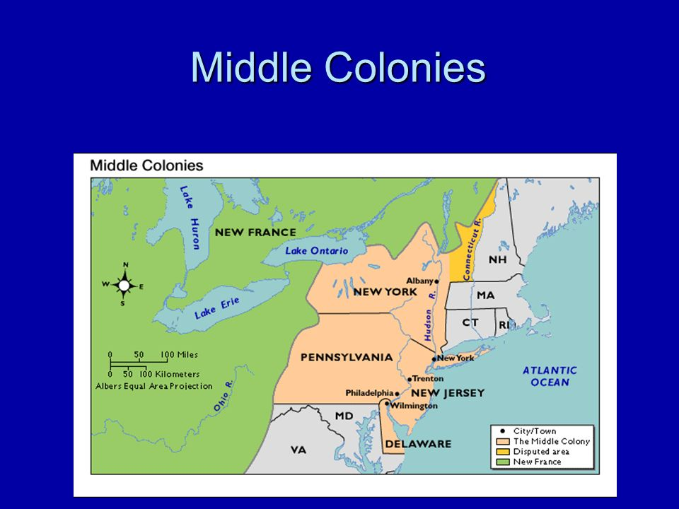 a comparison of the features of new england the middle colonies and the southern colonies