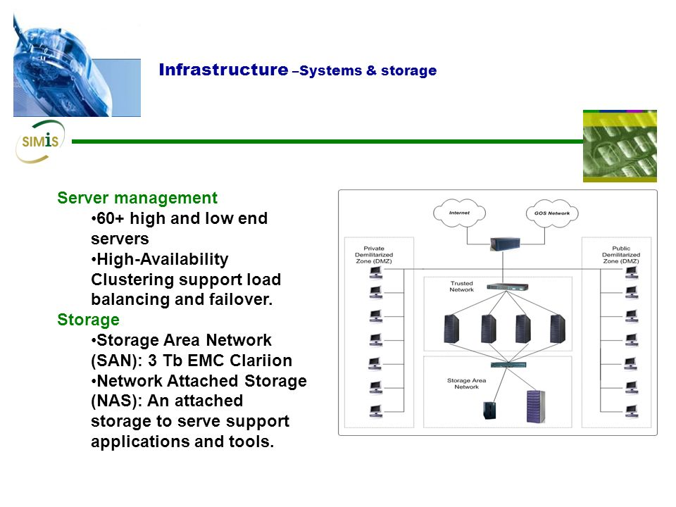 Infrastructure –Systems & storage