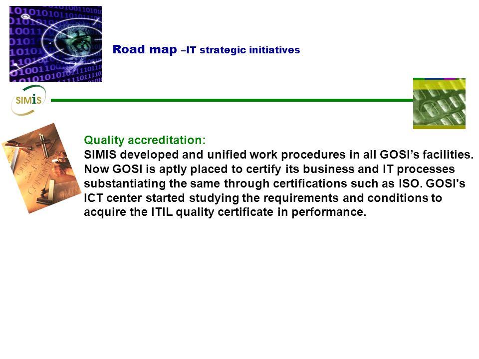 Road map –IT strategic initiatives