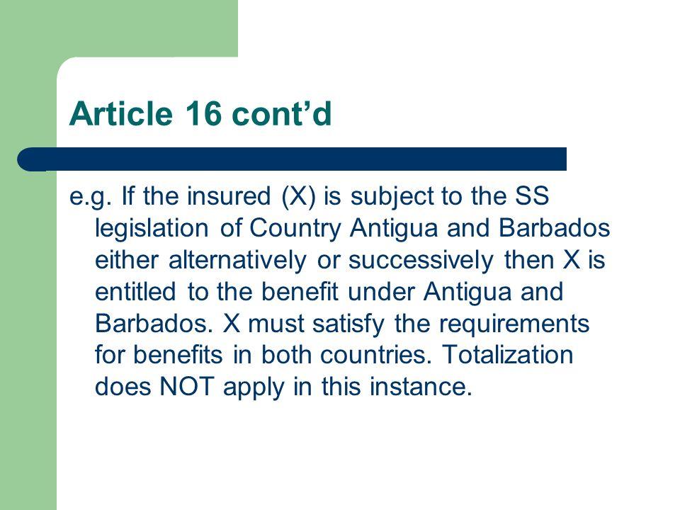 Article 16 cont'd