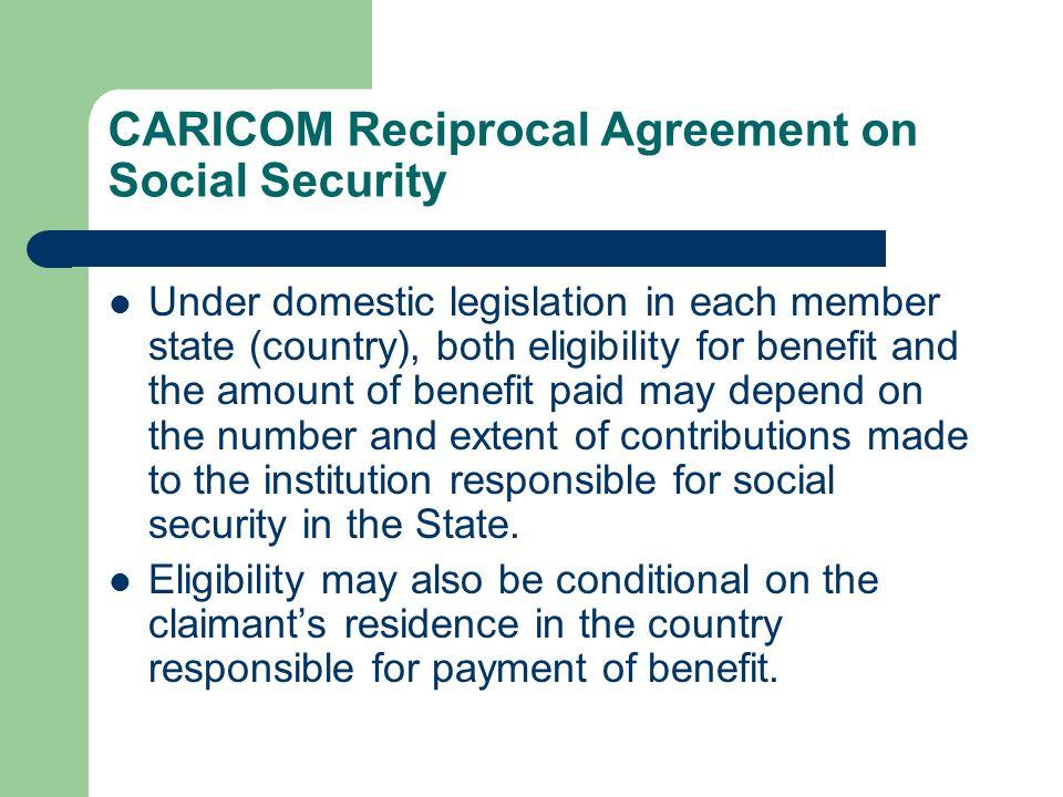 CARICOM Reciprocal Agreement on Social Security