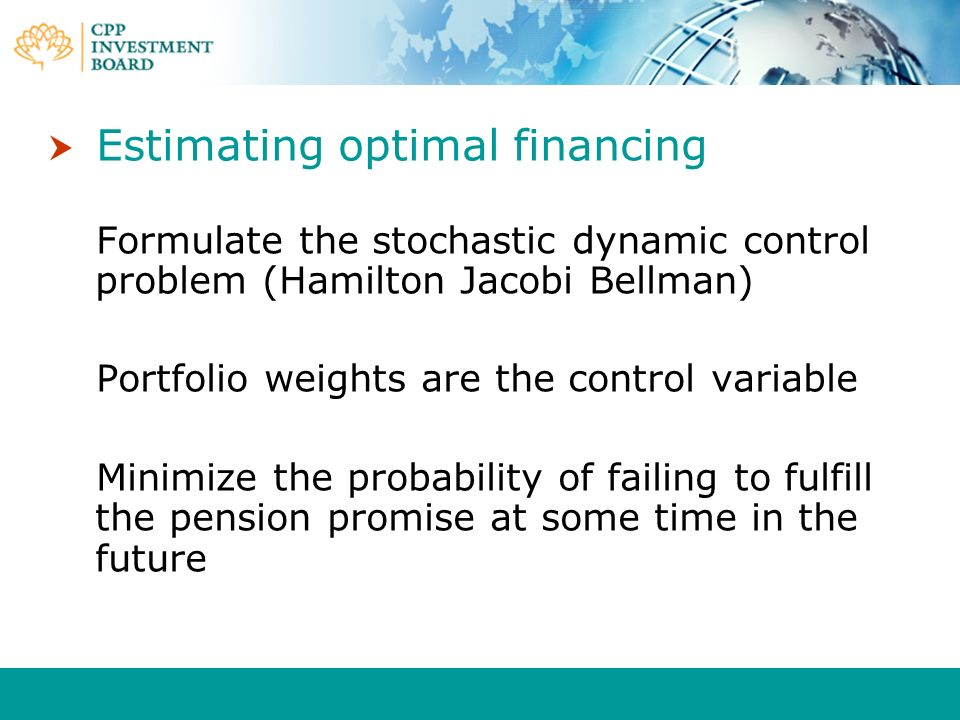 Estimating optimal financing