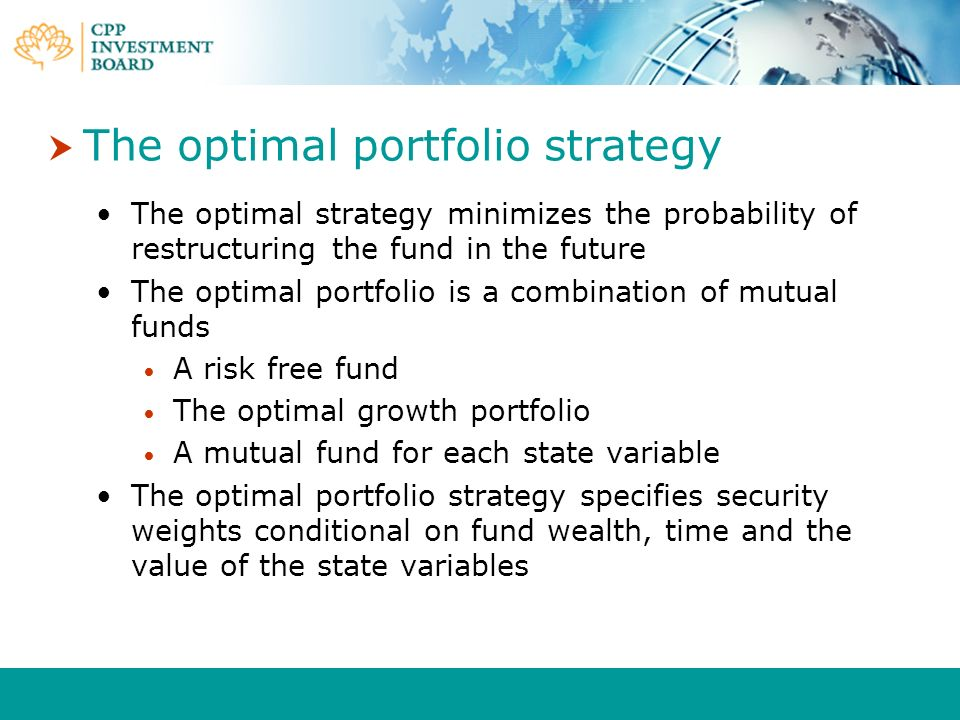 The optimal portfolio strategy