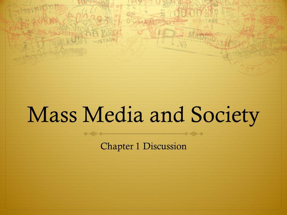 mass media society