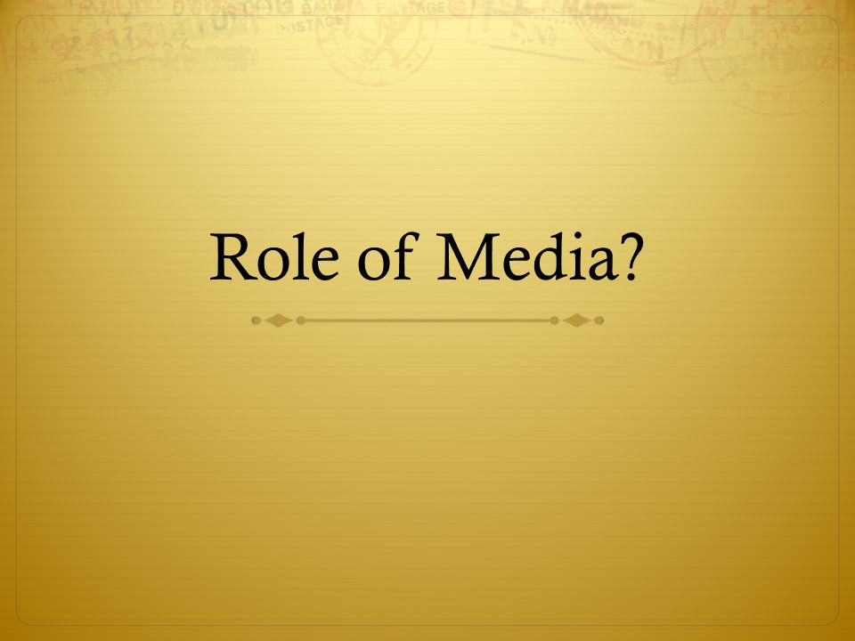 A discussion on the role of mass media in society