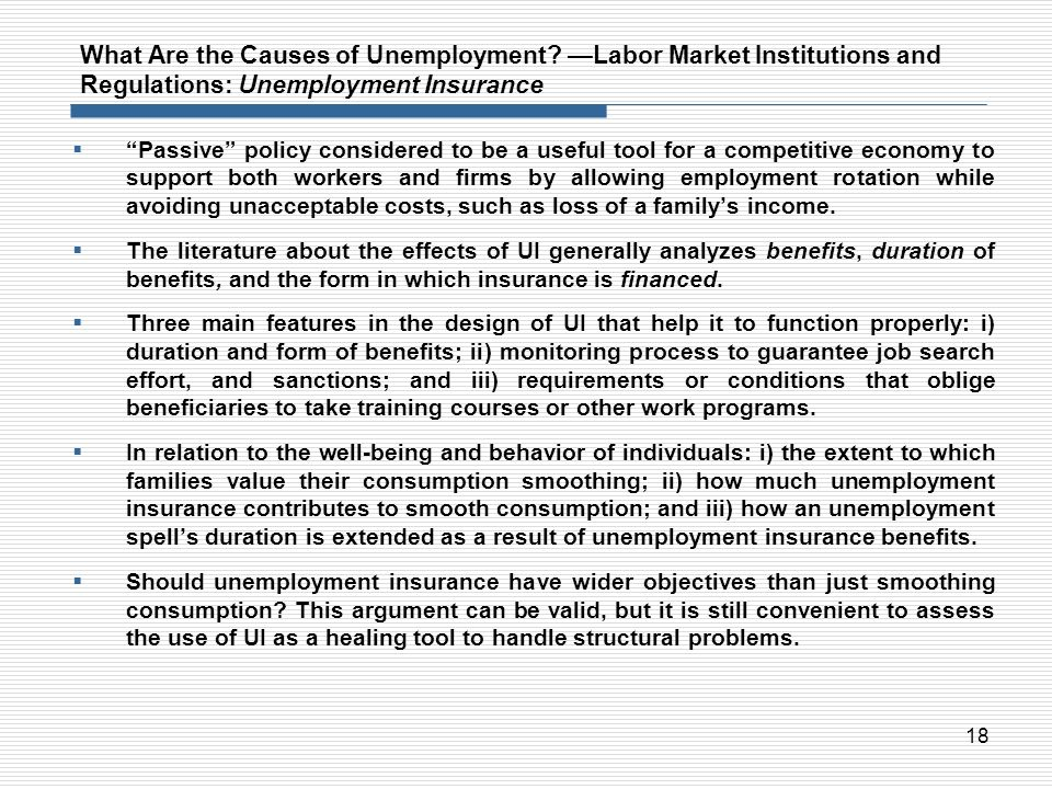 What Are the Causes of Unemployment