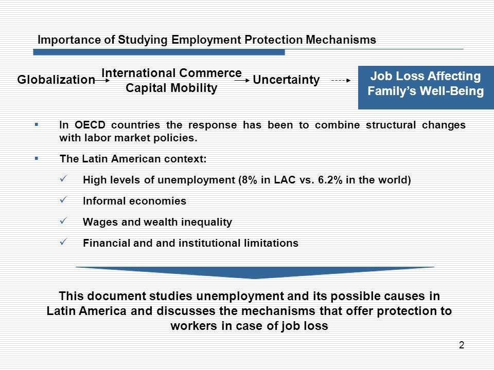 Importance of Studying Employment Protection Mechanisms