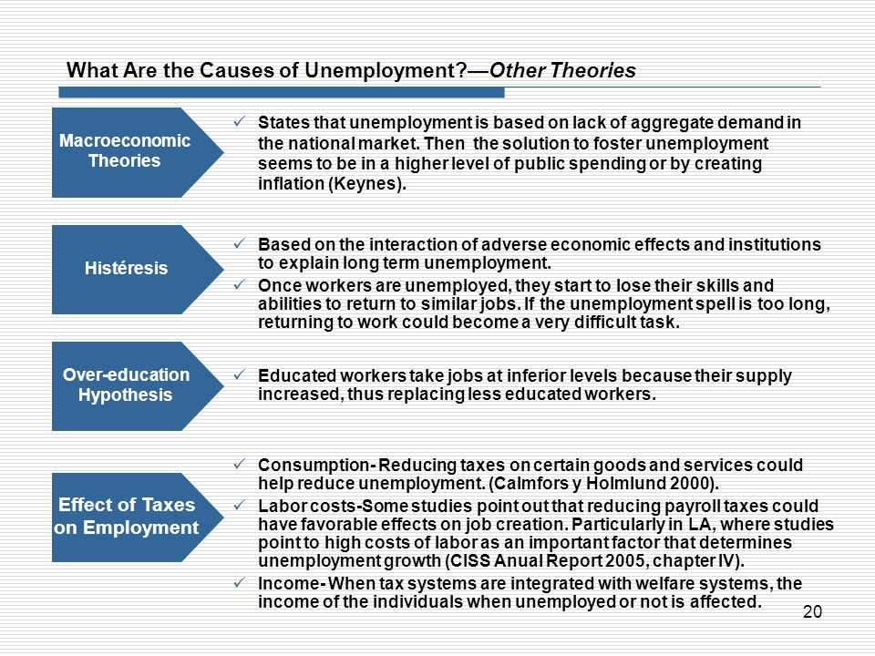 What Are the Causes of Unemployment —Other Theories