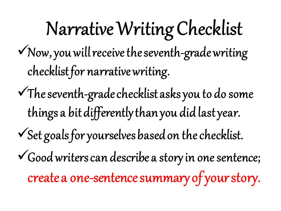 Editing Checklist for Self- and Peer Editing