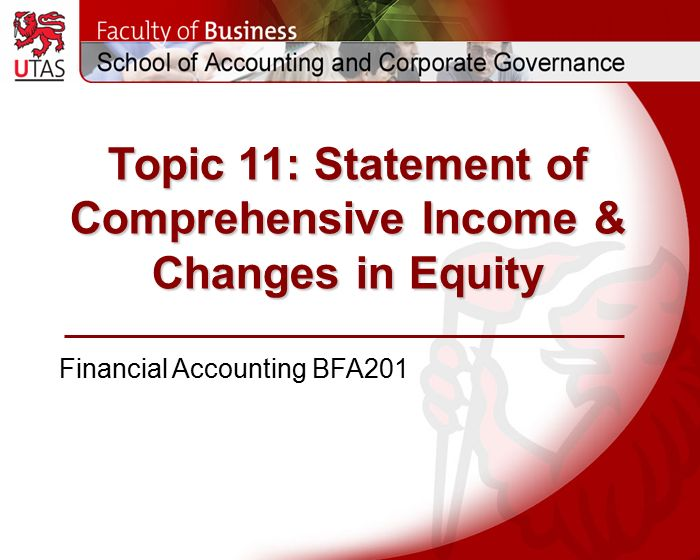 comprehensive income accounting International accounting standards suggest that companies should present other  comprehensive income in their financial statements a statement of.
