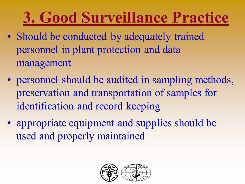 3. Good Surveillance Practice