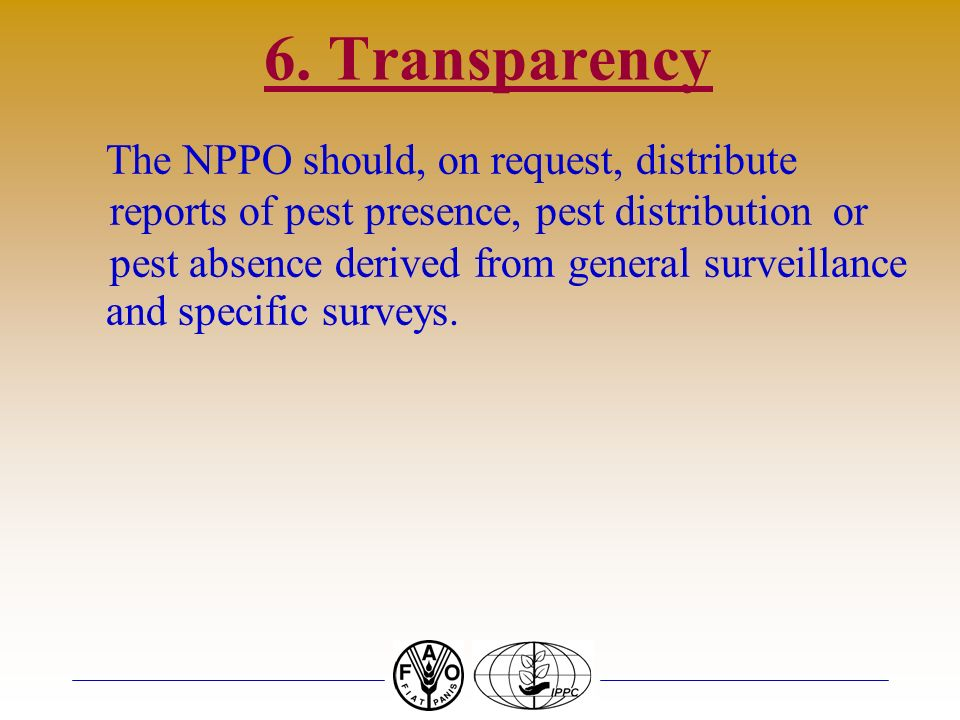 6. Transparency