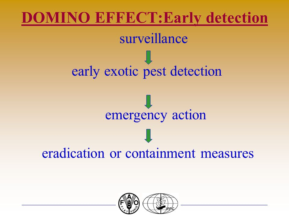 DOMINO EFFECT:Early detection