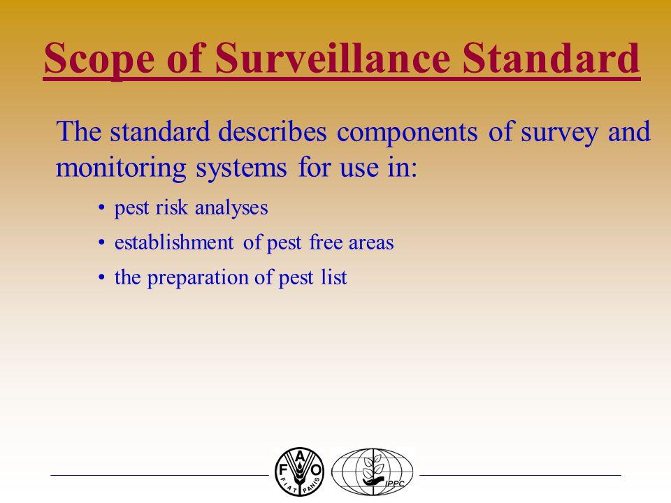 Scope of Surveillance Standard