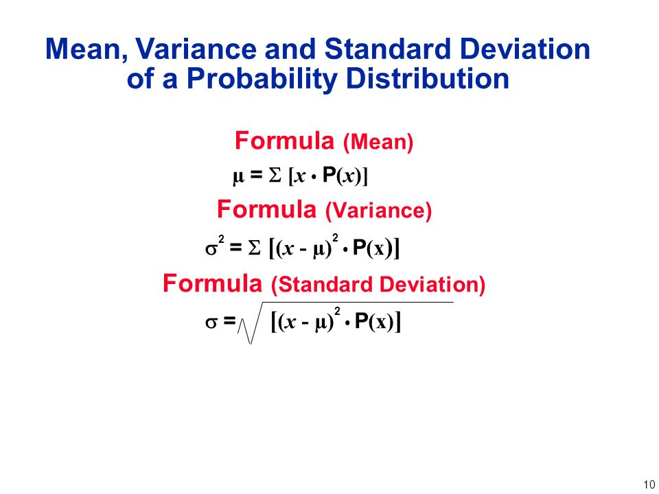 Chapter 4 probability distributions ppt video online download mean variance and standard deviation of a probability distribution ccuart Images