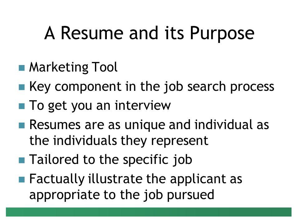 individual resume