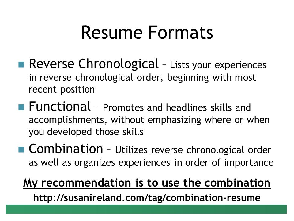 what is chronological order resume ideas