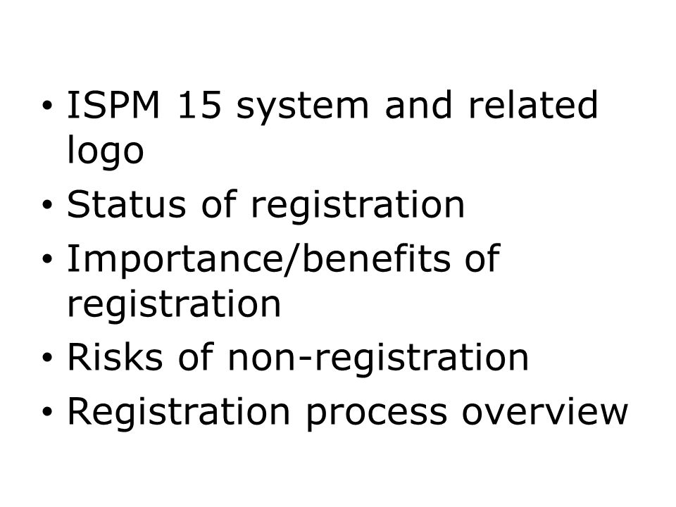 ISPM 15 system and related logo