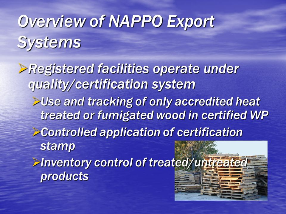 Overview of NAPPO Export Systems