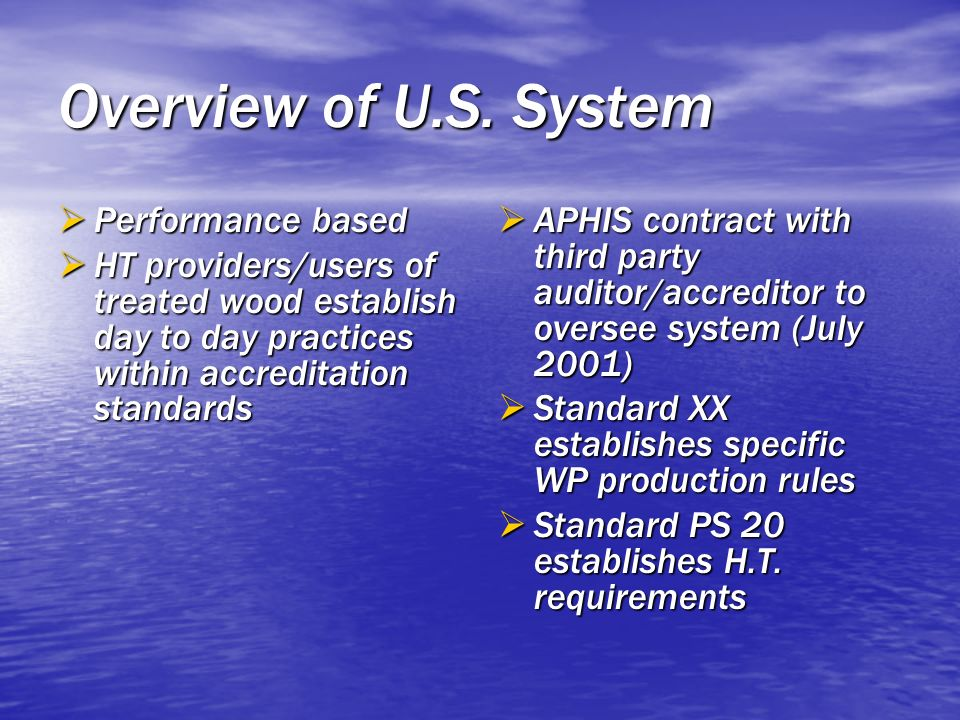 Overview of U.S. System Performance based