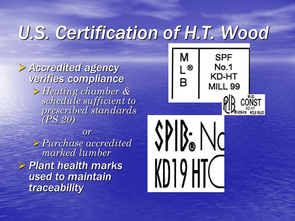 U.S. Certification of H.T. Wood