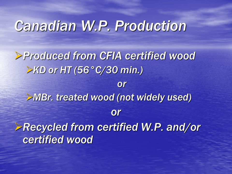 Canadian W.P. Production