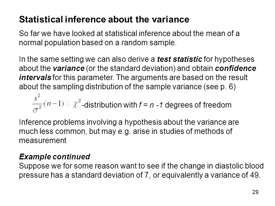 inferences for one population standard deviation essay Independent and dependent variable  sample which is a smaller group selected from the population for study inferences to the  mode and standard deviation.