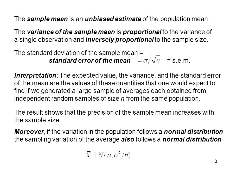 how to find variance of sample mean