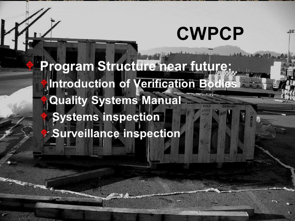 CWPCP Program Structure near future: