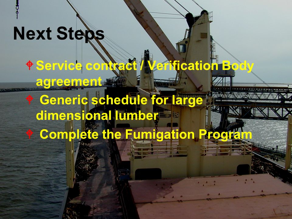 Next Steps Service contract / Verification Body agreement