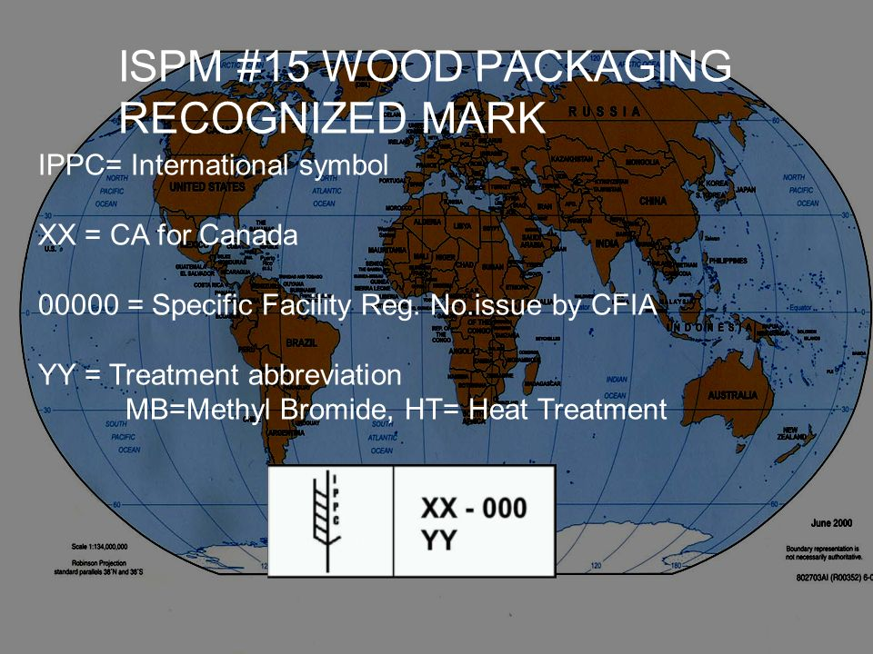 ISPM #15 WOOD PACKAGING RECOGNIZED MARK