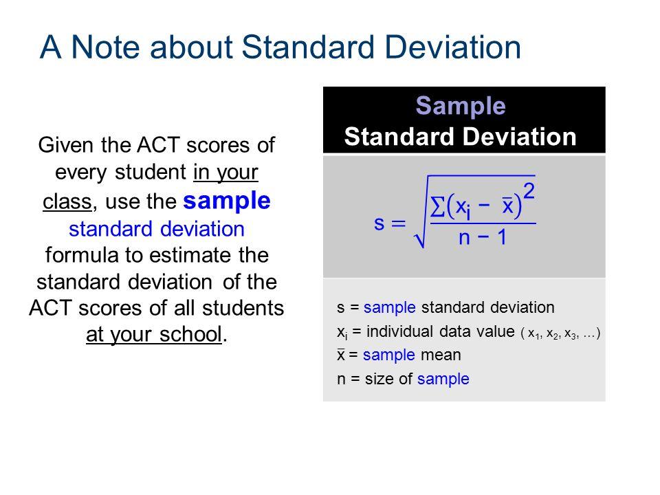 statistics how to find standard deviation