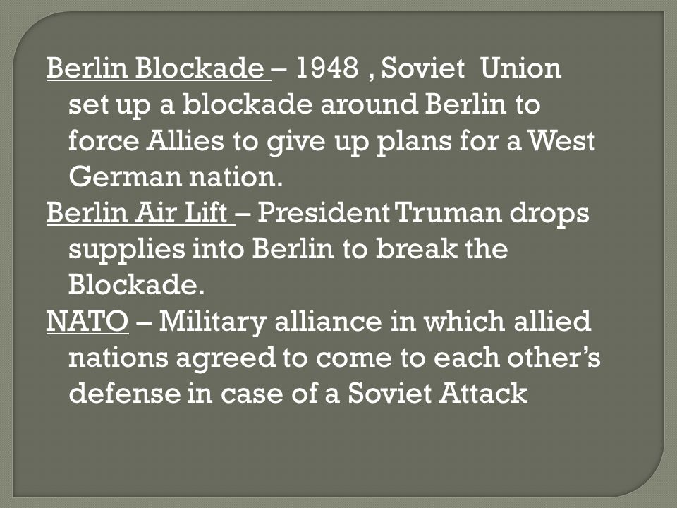 why did stalin blockade berlin in 1948 essay Why did stalin end the berlin blockade update cancel answer wiki why did stalin want a unified berlin so badly in 1948 what strategic role did west berlin play.