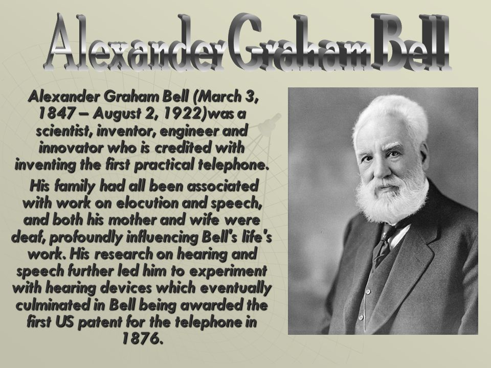 An introduction to the life of alexander graham bell an inventor