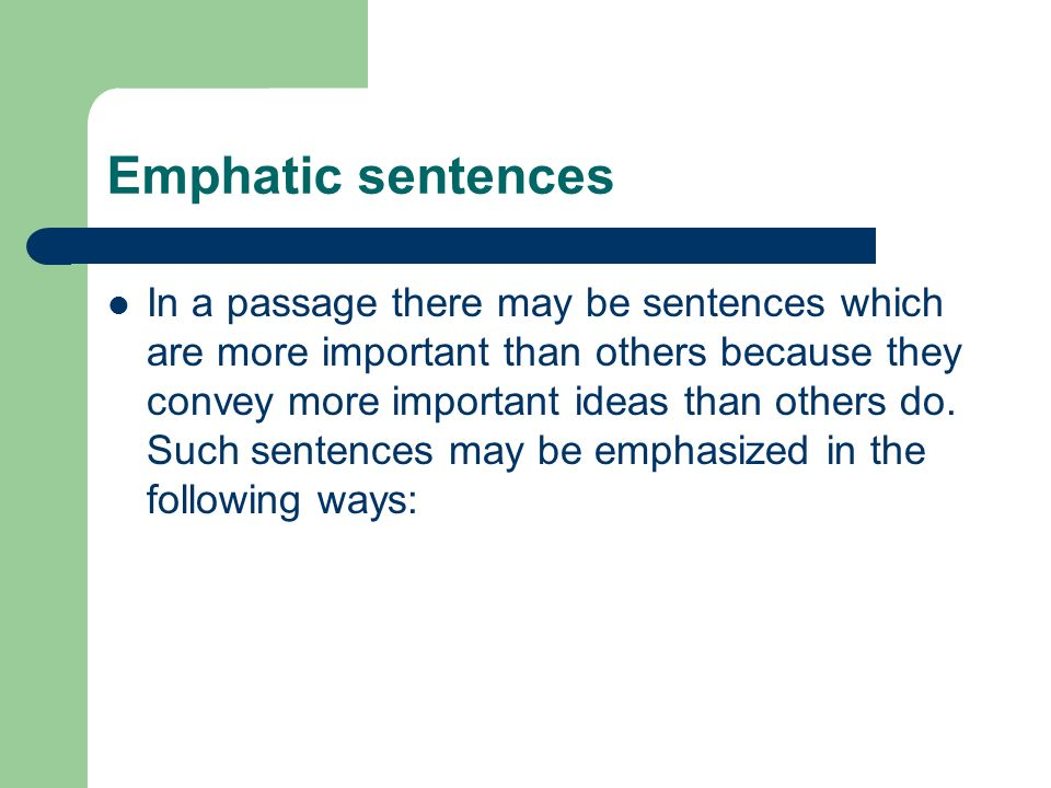 Emphatic sentences. Conciseness And Emphasis   ppt video online download