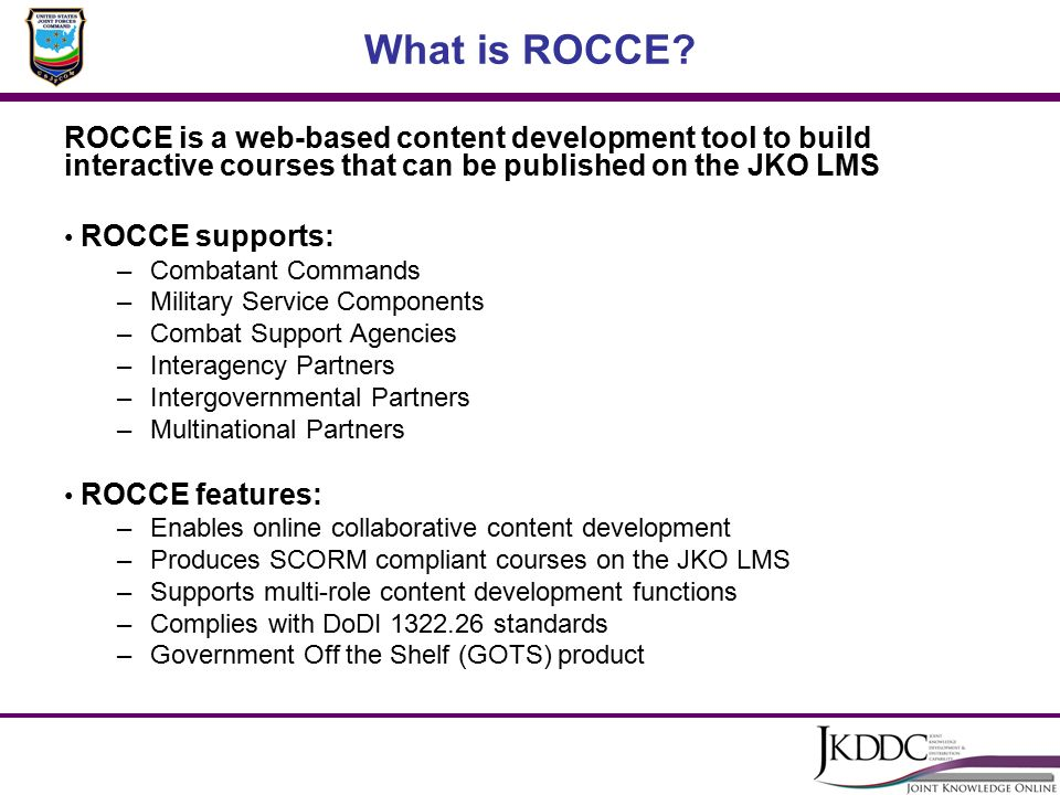 Rapid Online Content Creation Environment Rocce Ppt