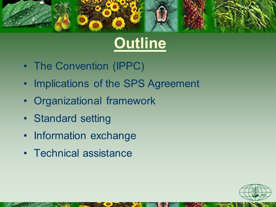 Outline The Convention (IPPC) Implications of the SPS Agreement