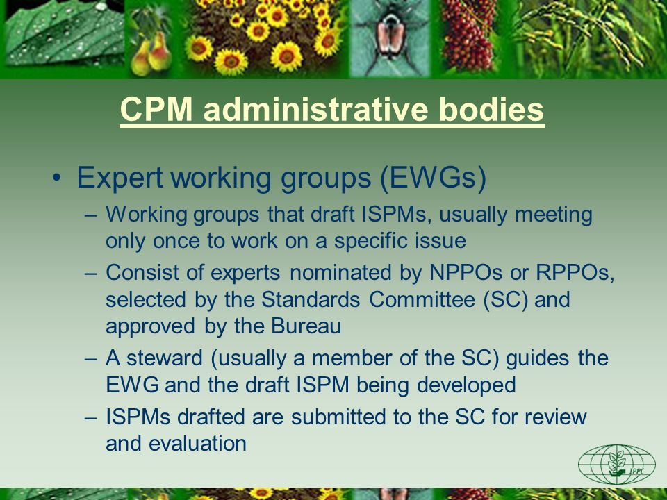 CPM administrative bodies