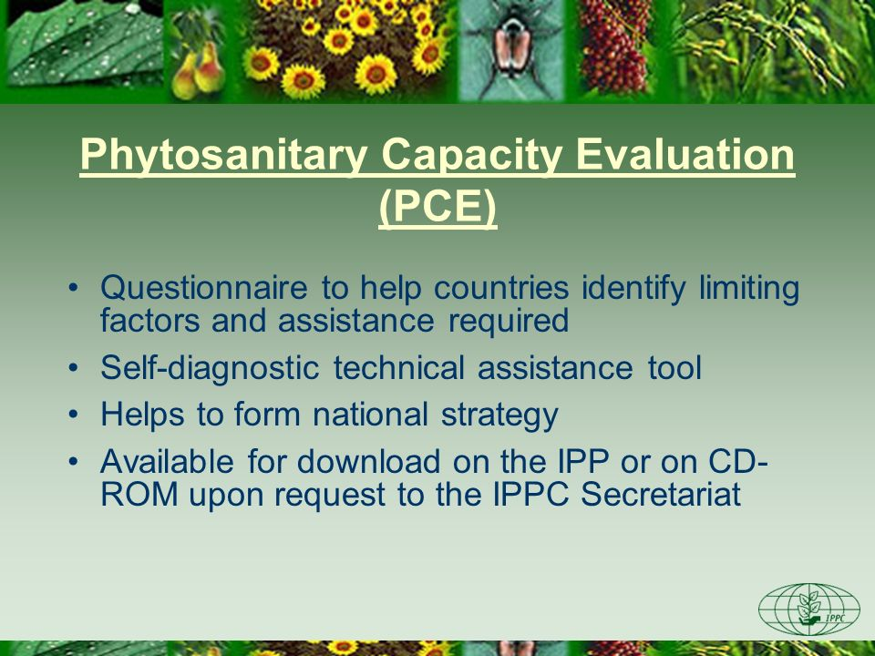 Phytosanitary Capacity Evaluation (PCE)