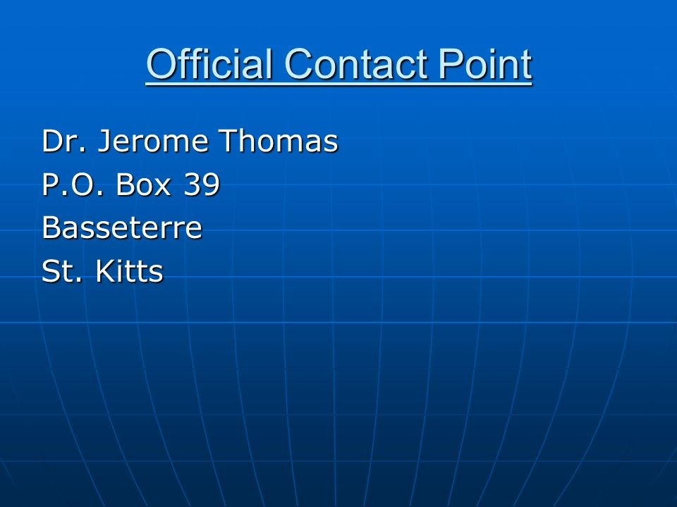 Official Contact Point