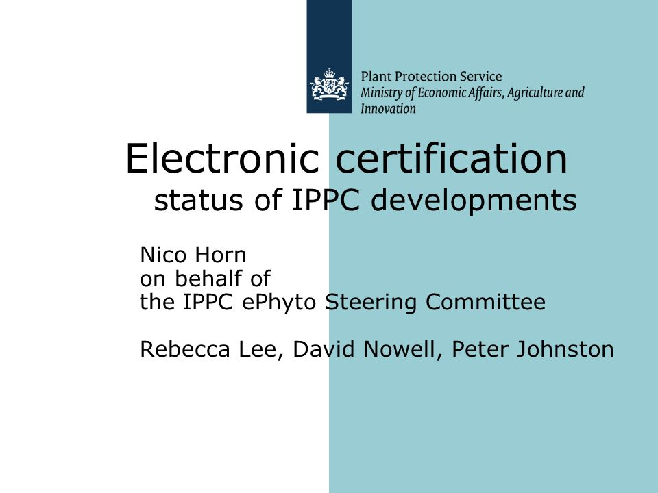 Electronic certification